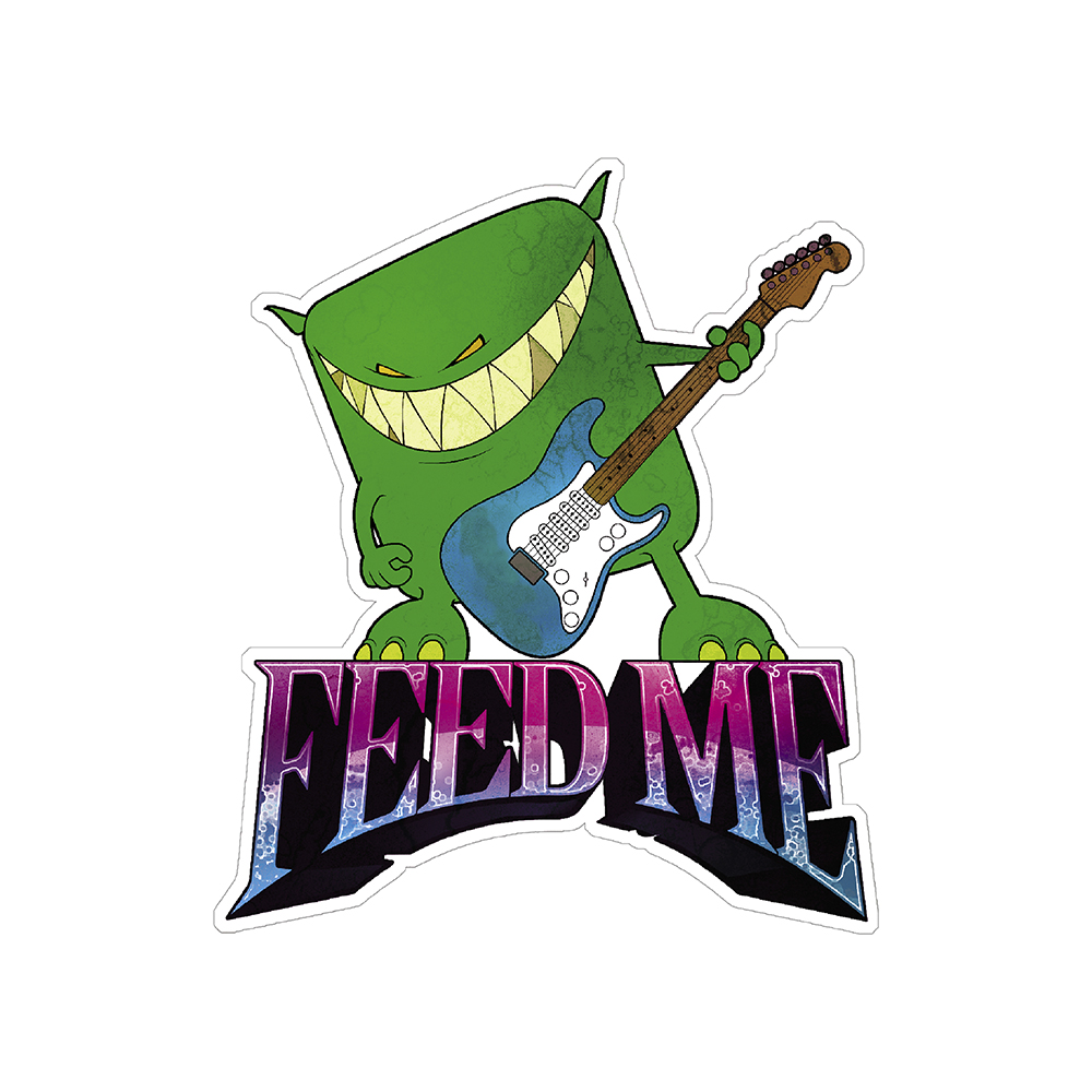 Feed Me - Vinyl Sticker