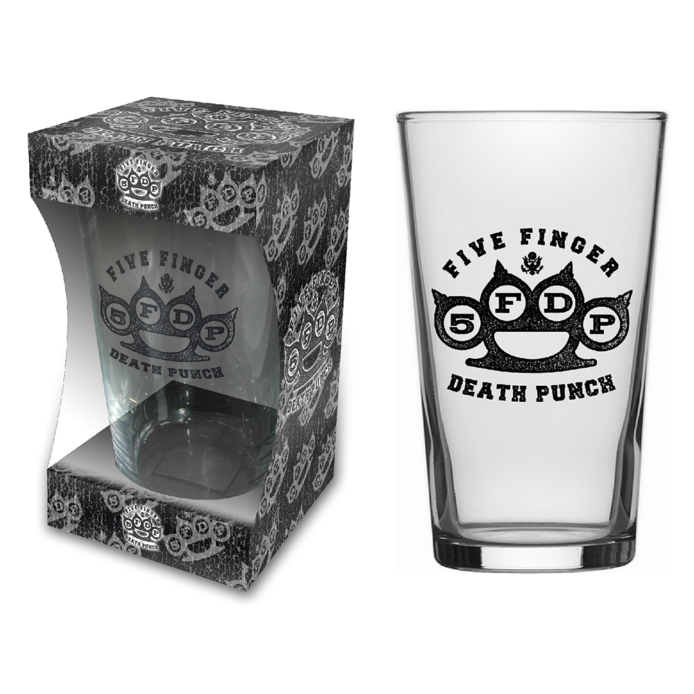 Five Finger Death Punch - Knuckle Logo (Beer Glass)