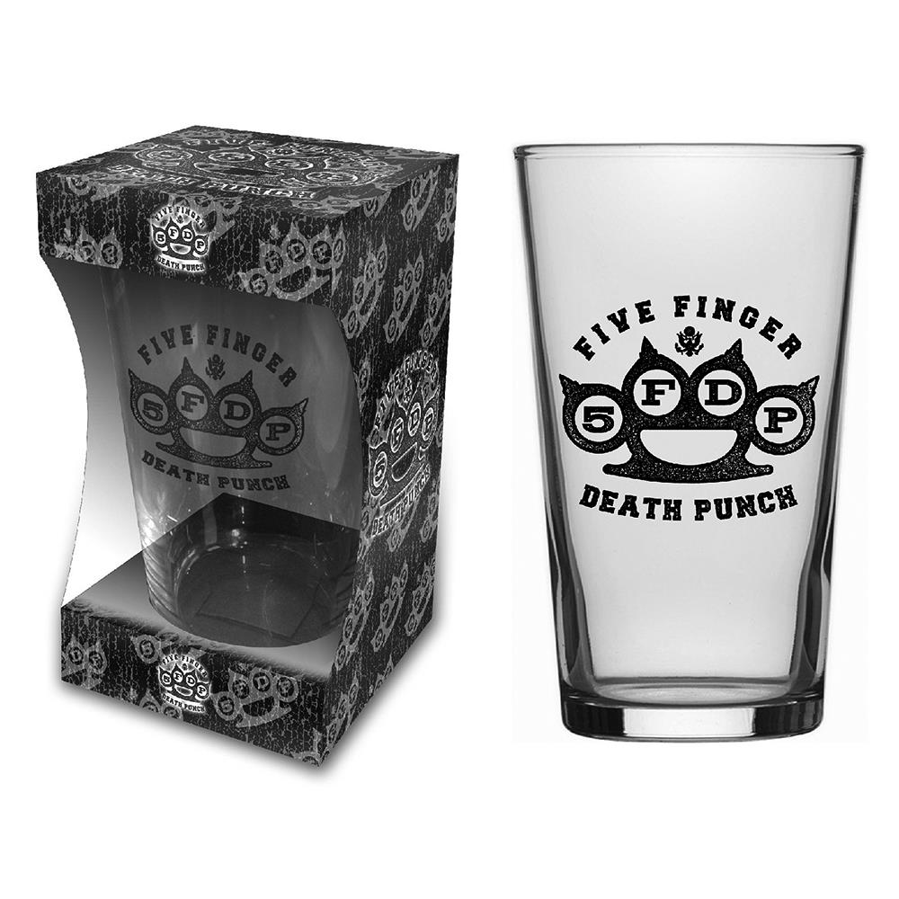 Five Finger Death Punch - Knuckle Logo Beer Glass