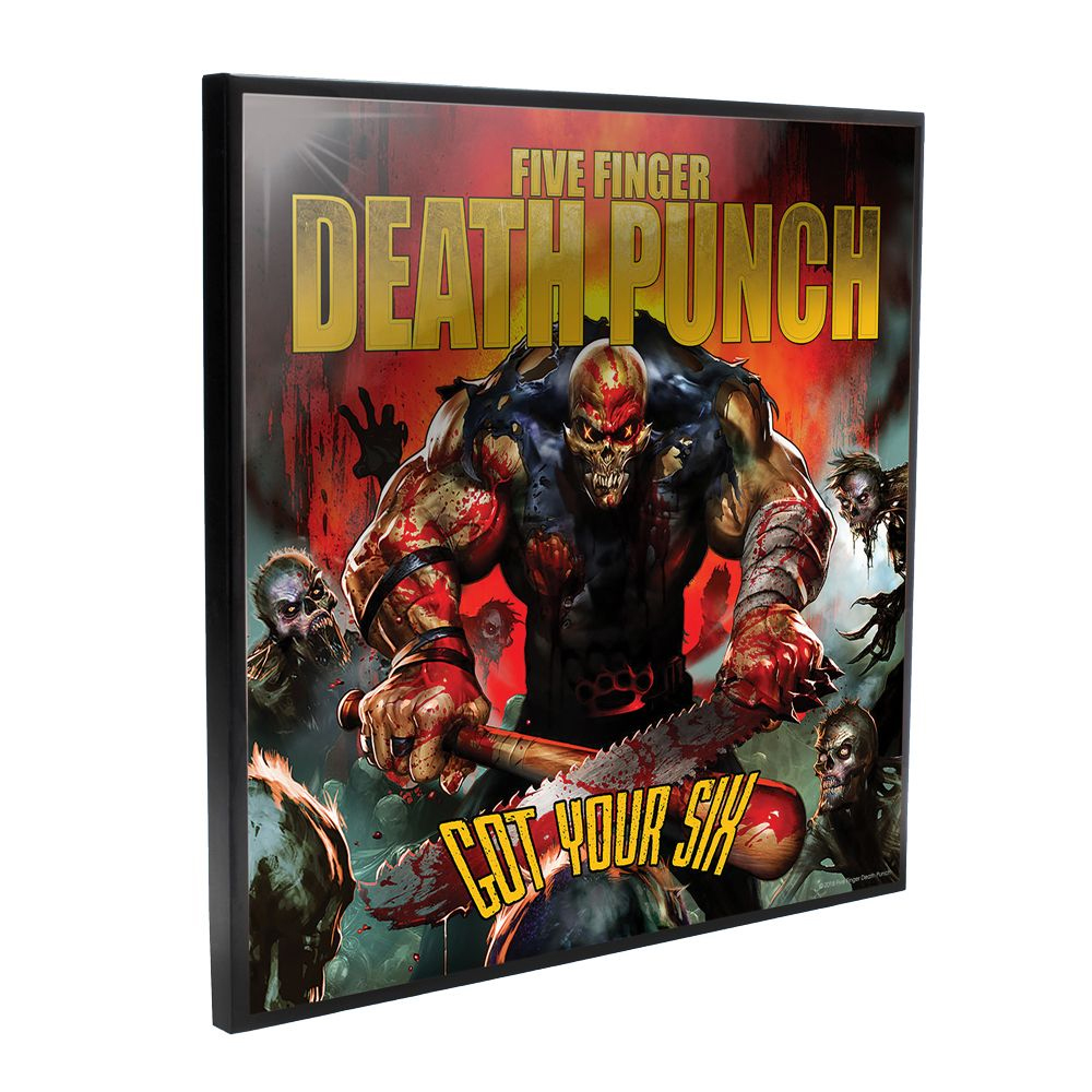 Five Finger Death Punch - Got Your Six Crystal Album Cover (Crystal Clear Wall Art)