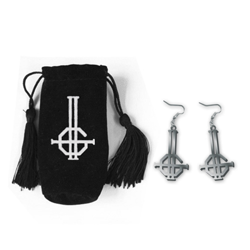 Ghost - Double Grucifix Earrings