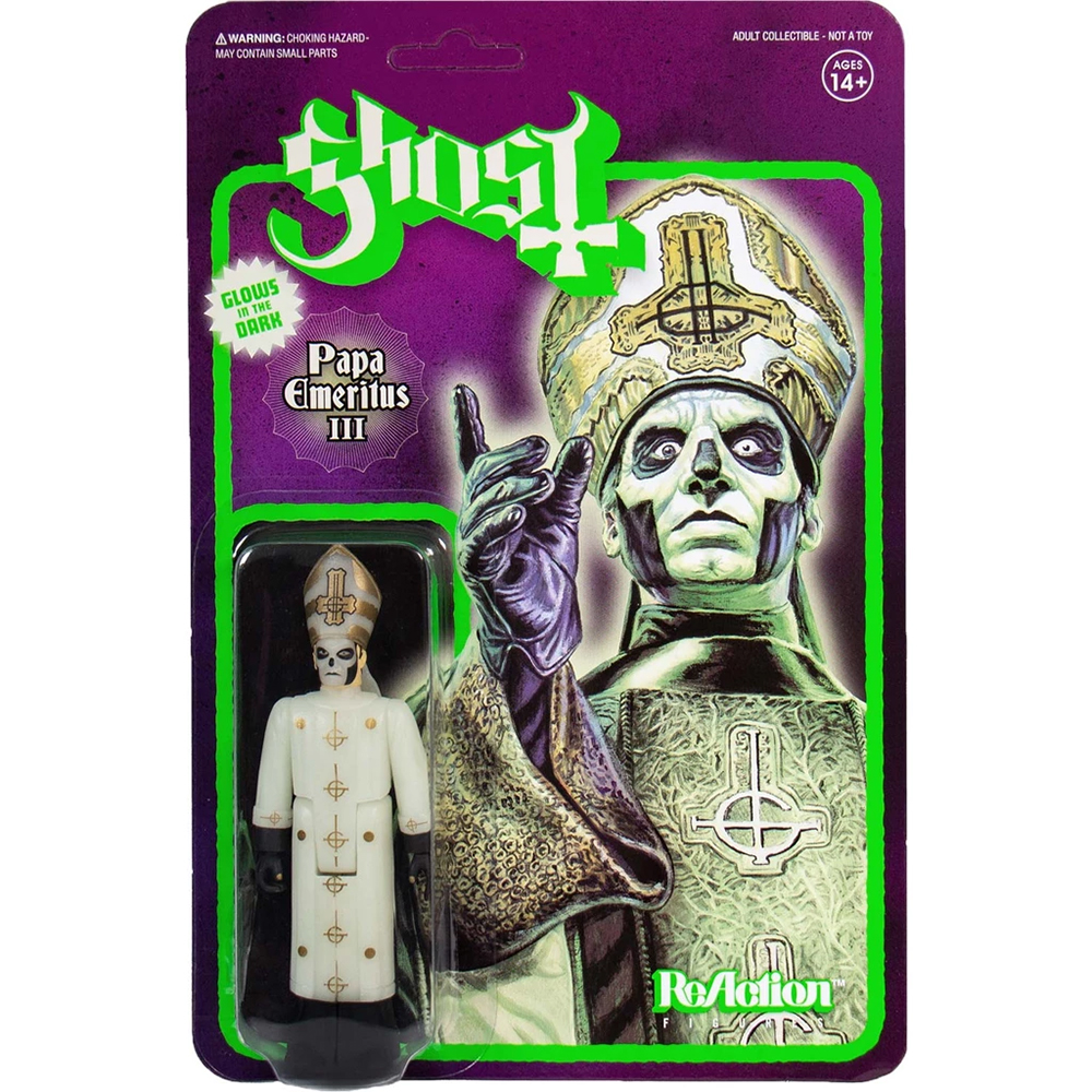 Ghost - Papa Emeritus III (Glows In The Dark ReAction Figure)