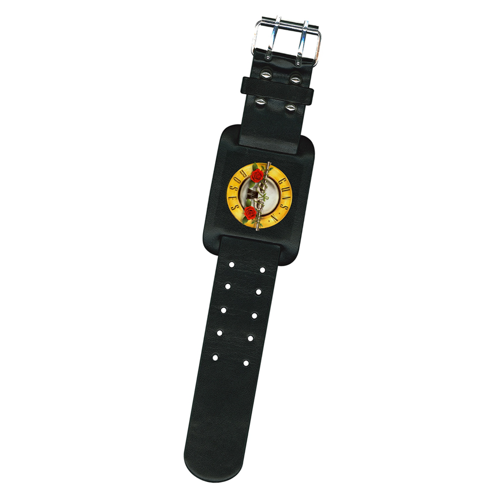 Guns N Roses - Bullet Logo (Leather Wristband)