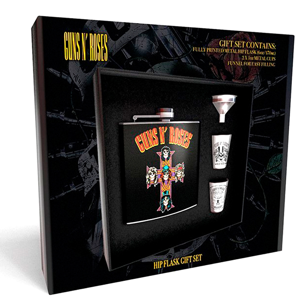 Guns N Roses - Cross (Hip Flask 2 Cups & Funnel)