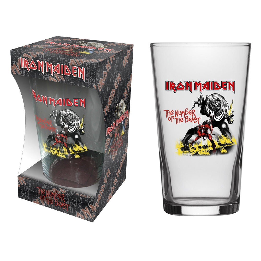 Iron Maiden - Number Of The Beast (Beer Glass)