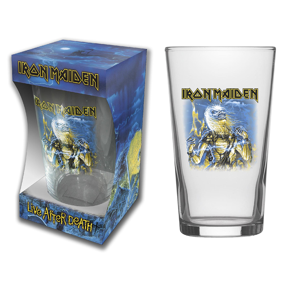 Iron Maiden - Live After Death (Beer Glass)