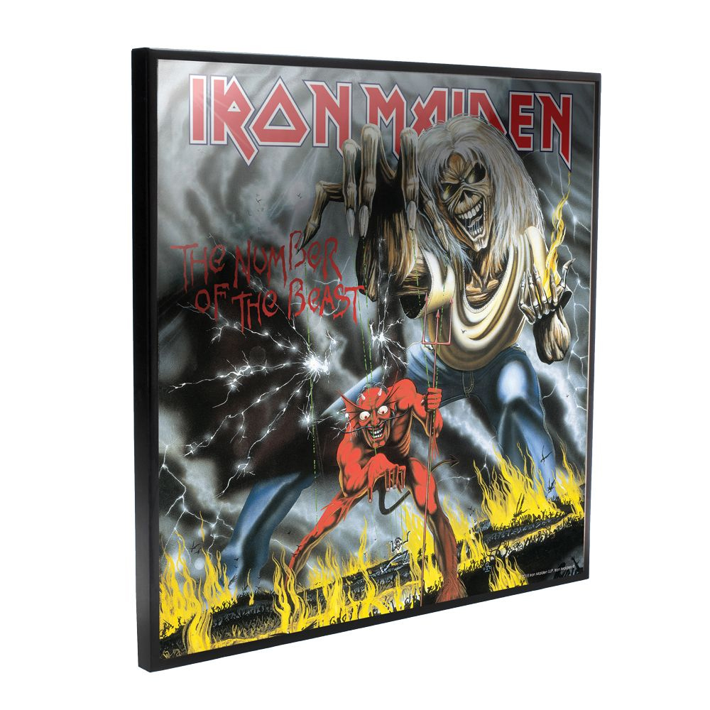 Iron Maiden - The Number Of The Beast Album Cover (Crystal Clear Wall Art)