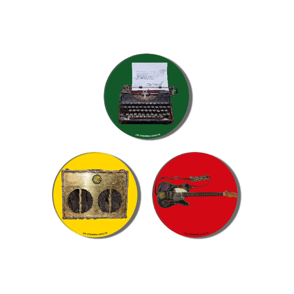 Joe Strummer - Archive Badge Set #1
