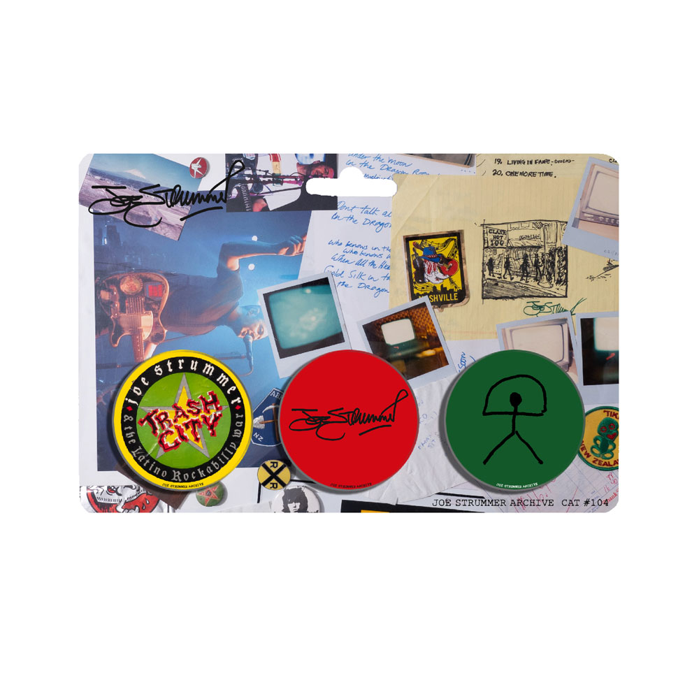 Joe Strummer - Archive Badge Set #3