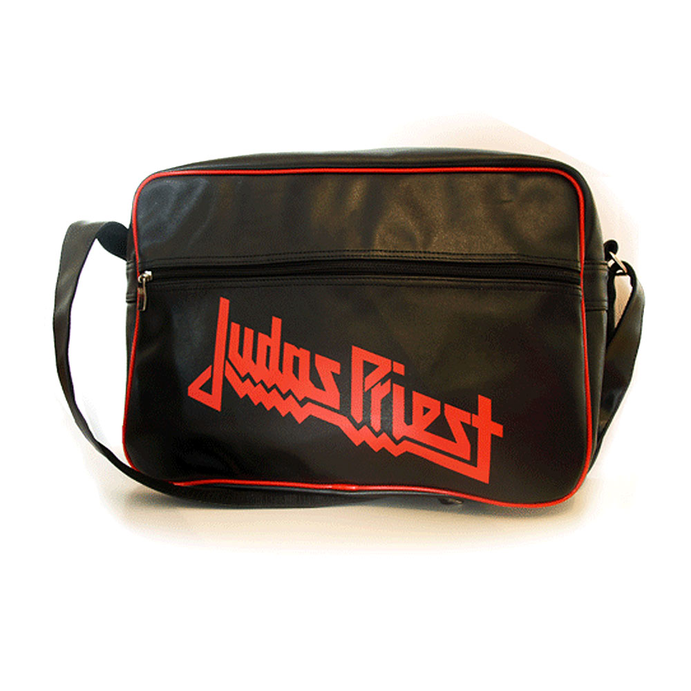 Judas Priest - Black/Red Retro Pleather Satchel