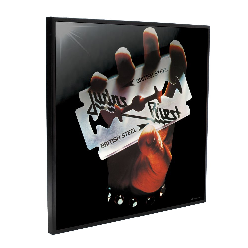 Judas Priest - British Steel Album Cover (Crystal Clear Wall Art)