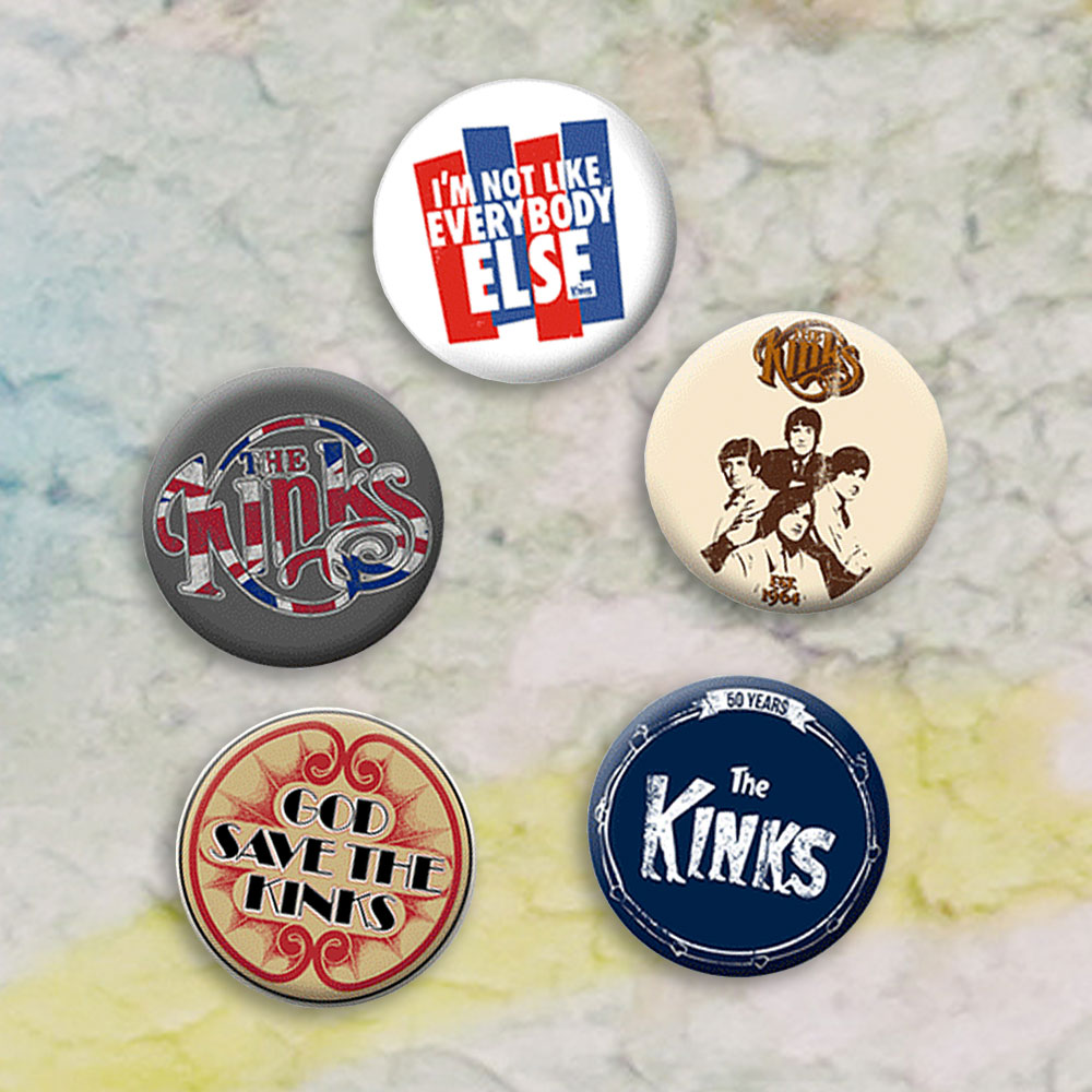The Kinks - Classic Button Badge Set 1