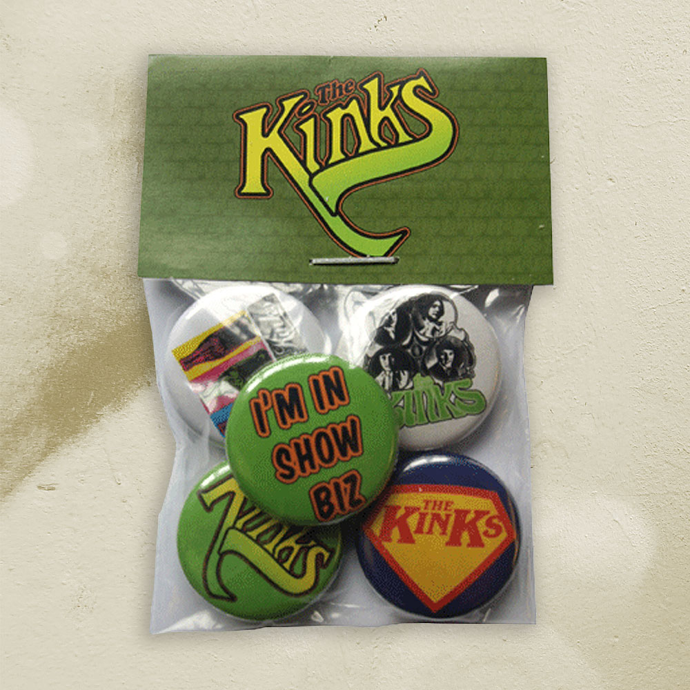 The Kinks - Classic Button Badge Set 2