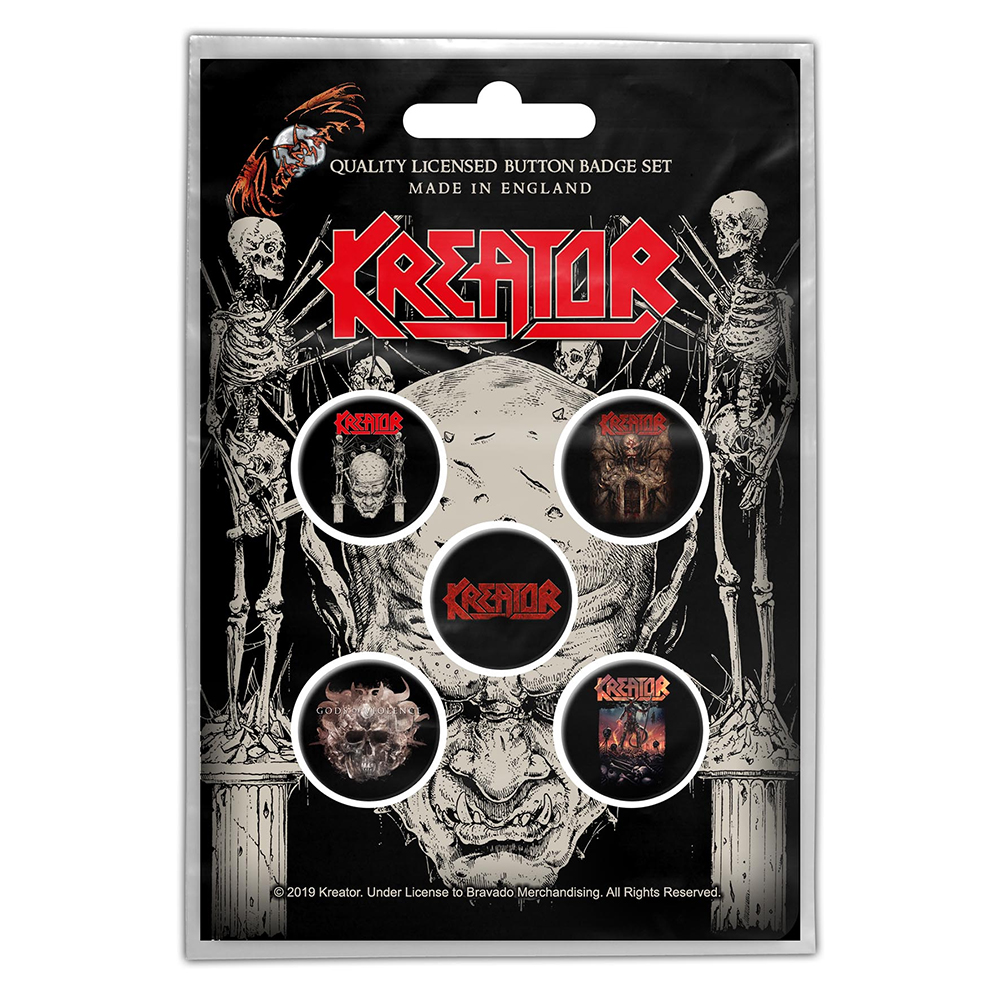 Kreator - Skull & Skeletons (Button Badge Pack)
