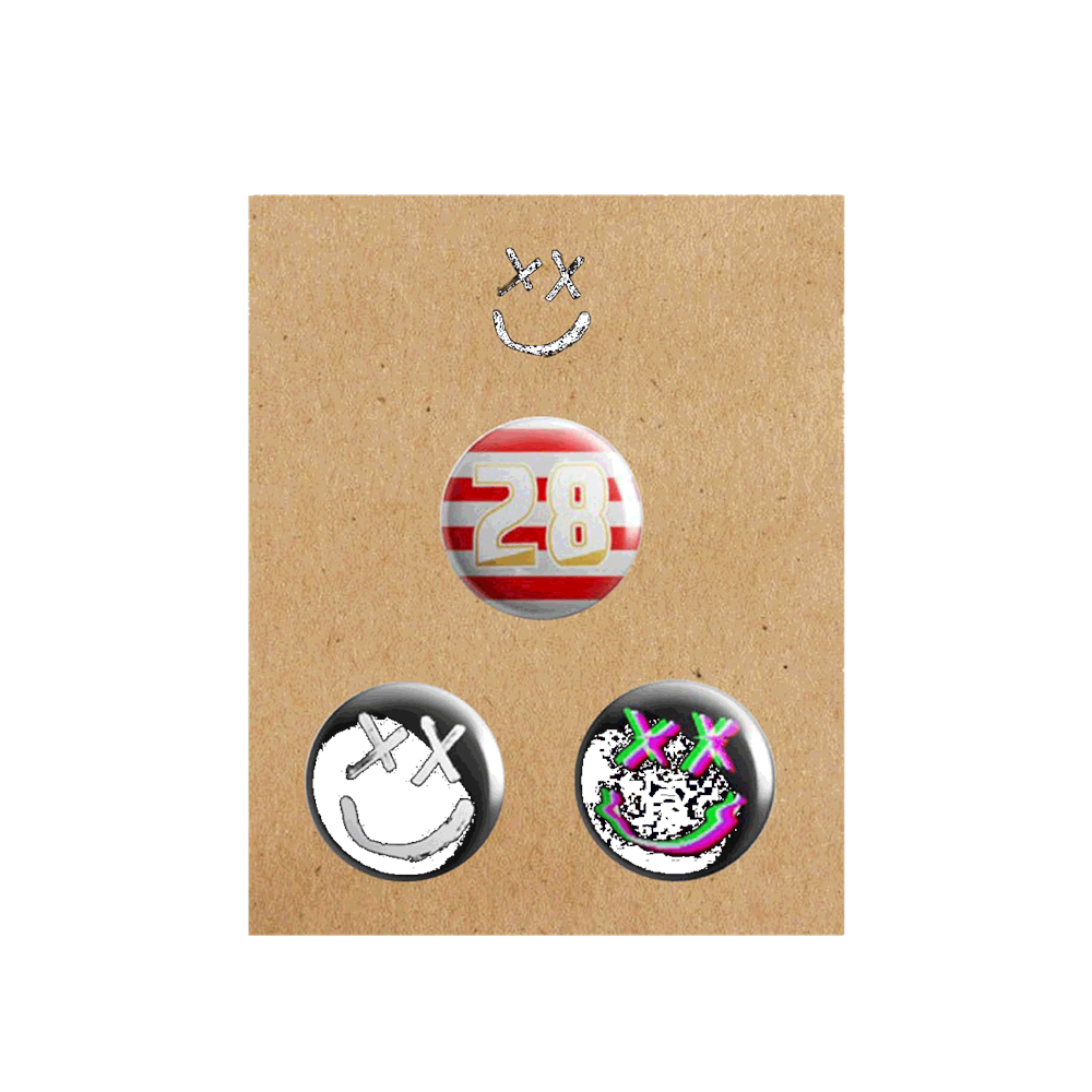 Louis Tomlinson - Smiley Pin Badge Set