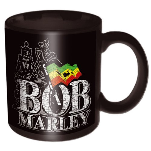 Bob Marley - Distressed Logo (Black)