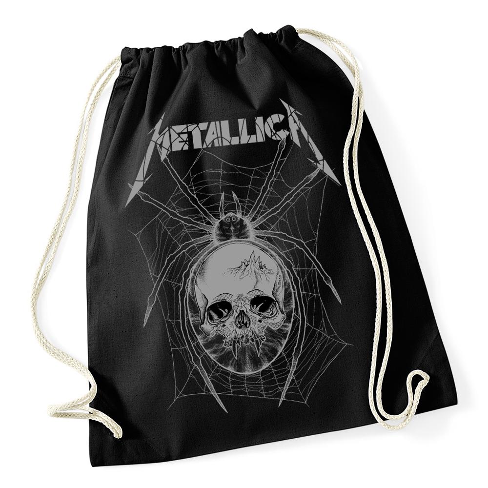 76799befd946 Metallica Grey Spider Black Drawstring Bag