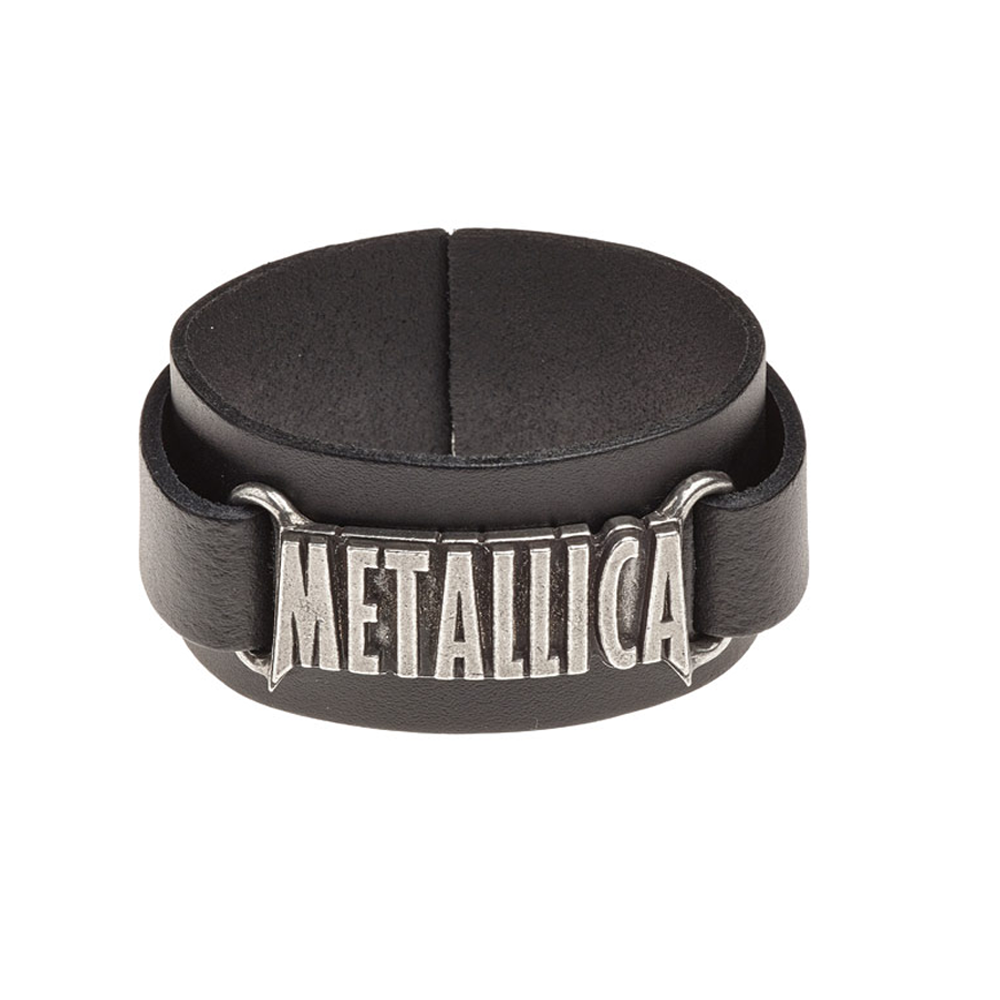 Metallica - Logo Leather Wrist Strap