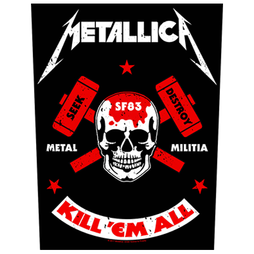 Metallica - Metal Militia (Back Patch)