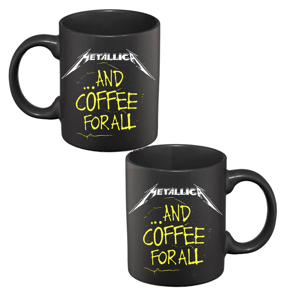 Metallica - And Coffee For All (Black Mug)
