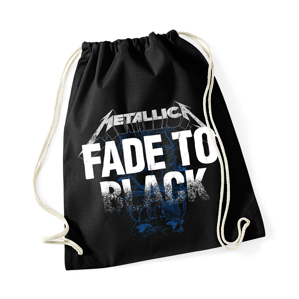 Metallica - Fade To Black Drawstring Black Bag