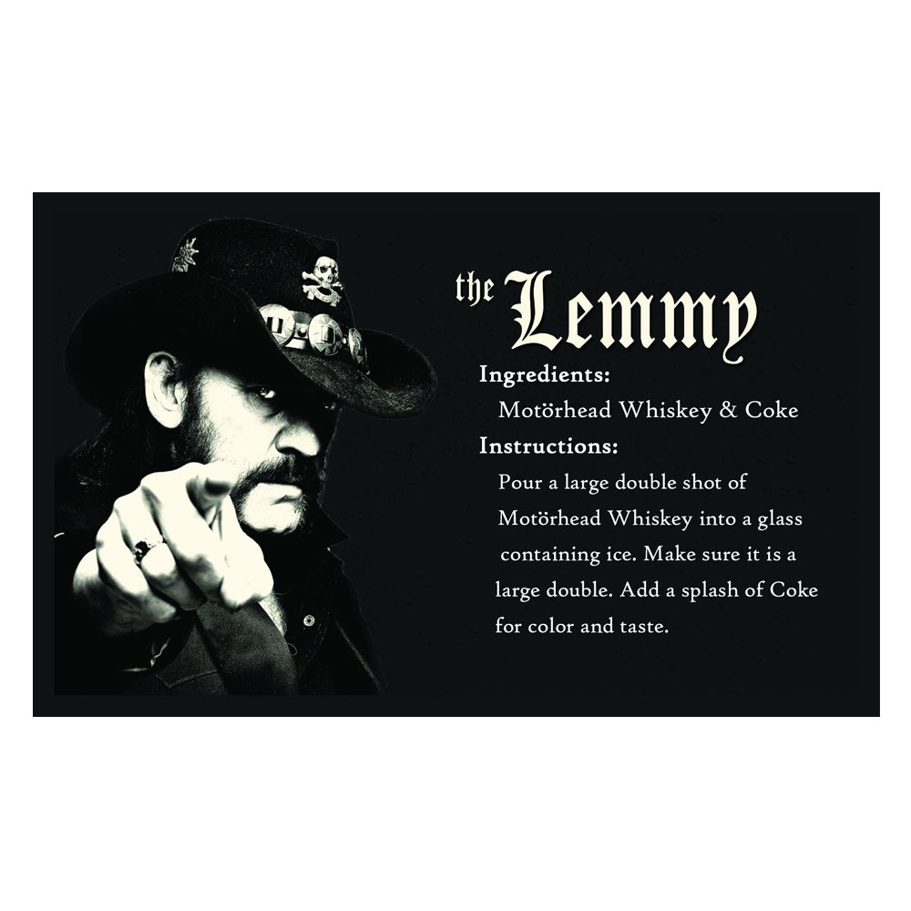 Motorhead - Lemmy Memorial Rocks Glassware Box Set