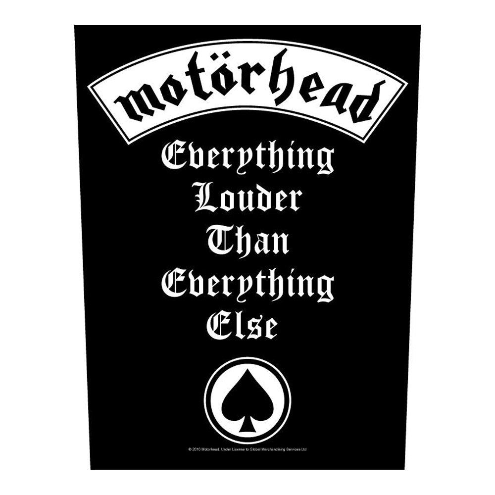 Motorhead - Everything Louder Back Patch