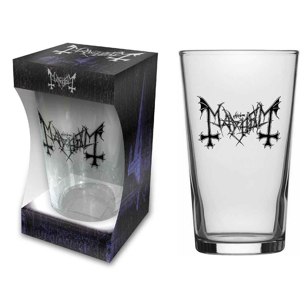 Mayhem - Logo Beer Glass