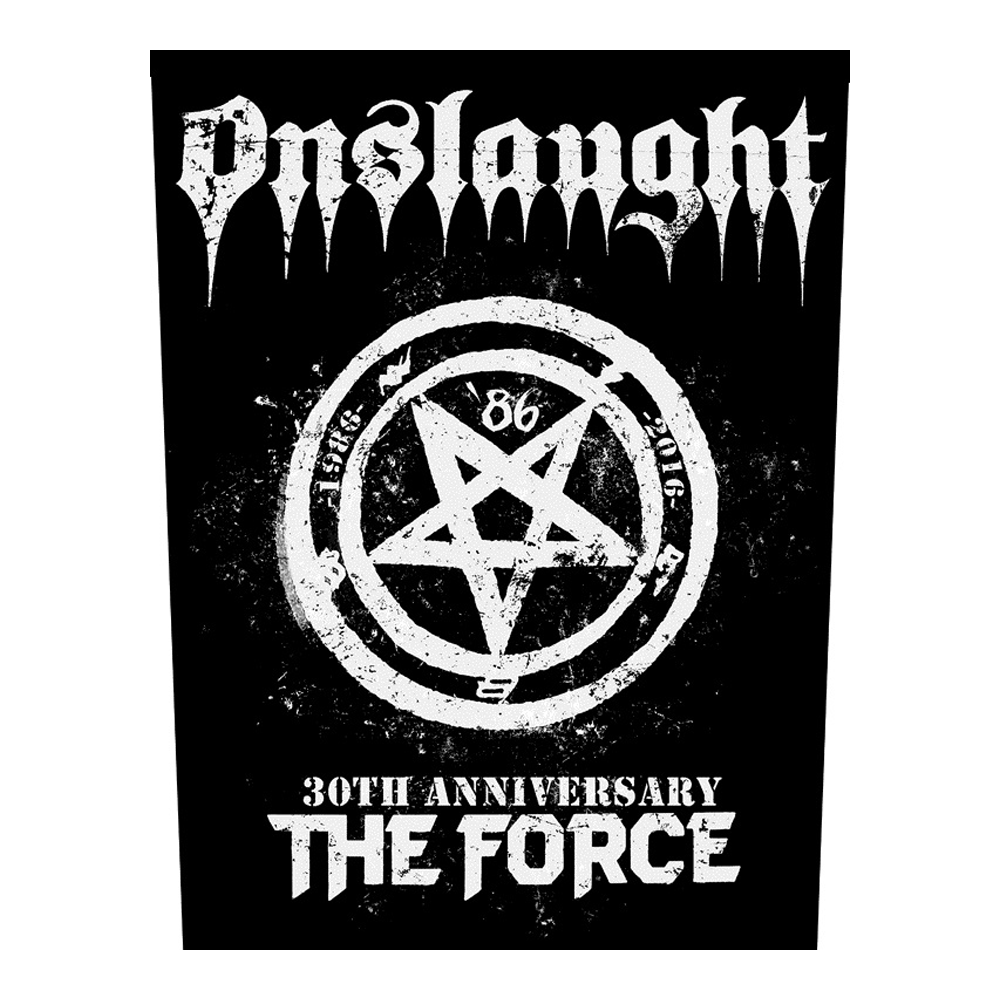 Onslaught - The Force 30th Aniversary Backpatch