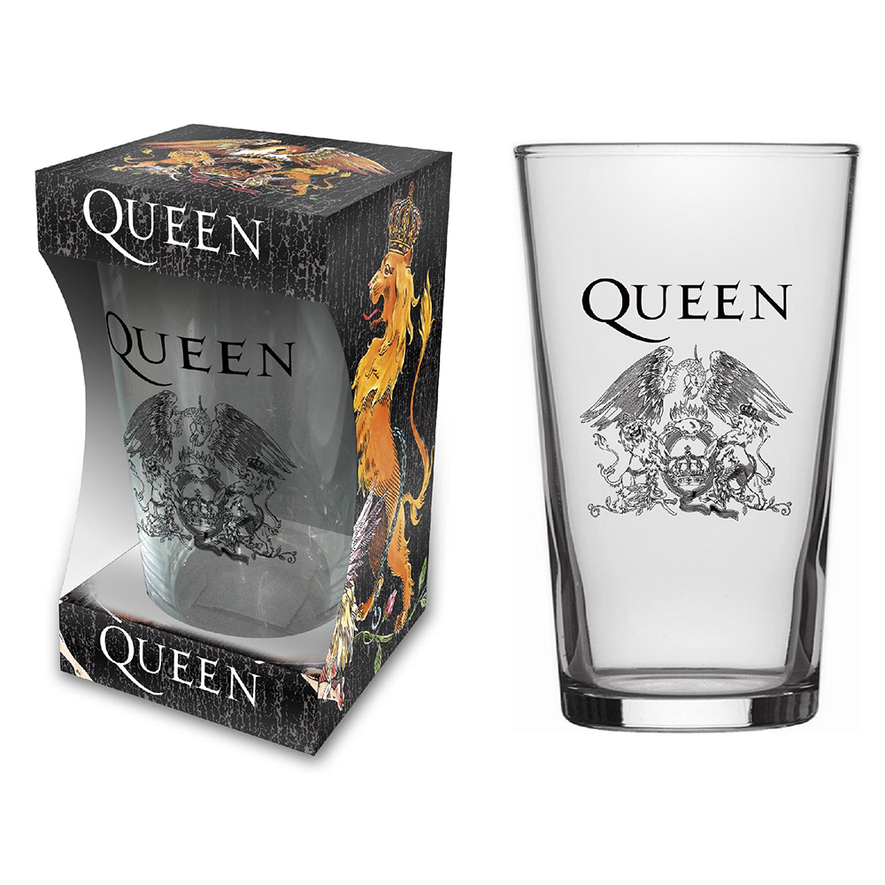 Queen - Crest (Beer Glass)