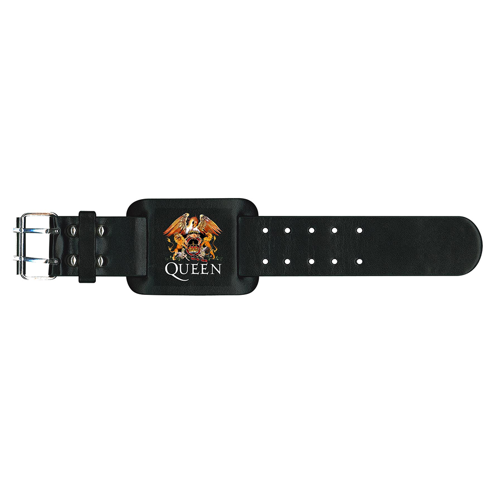 Queen - Crest   (Leather Wristband)
