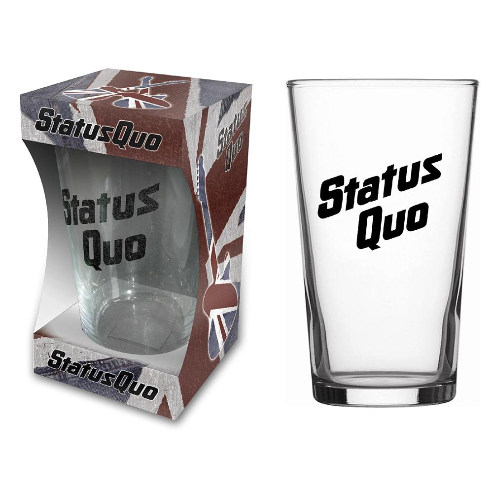 Status Quo - Logo Beer Glass