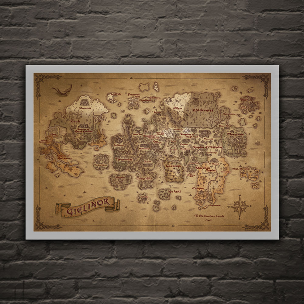 RuneScape - 760mm x 500mm Map of Gielinor Fine Art Print
