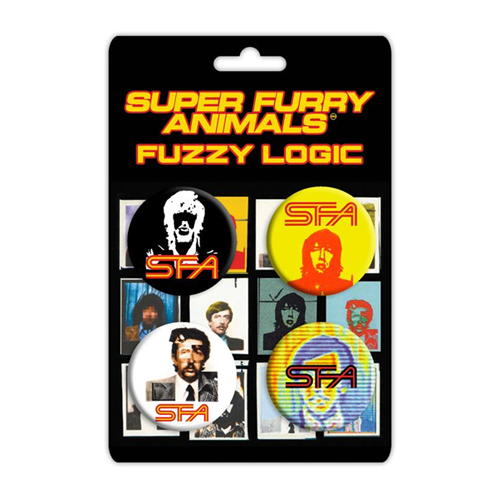 Super Furry Animals - Super Furry Animals Fuzzy Logic Badge Set X4