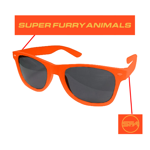 Super Furry Animals - SFA Logo (Orange)