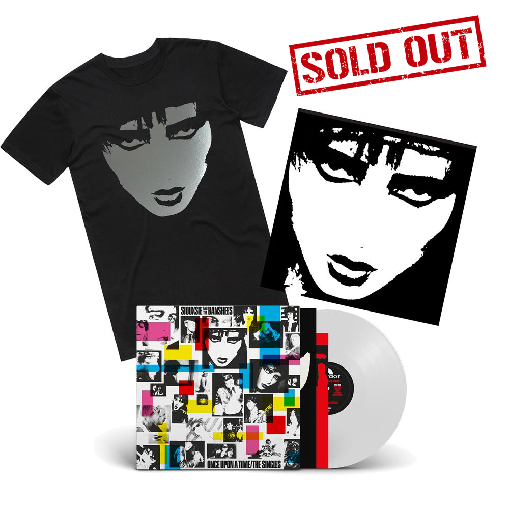 Siouxsie And The Banshees - ONCE UPON A TIME LP INC POSTER + LIMITED PRINT HAND-SIGNED BY SIOUXSIE + BLACK FOIL T-SHIRT BUNDLE