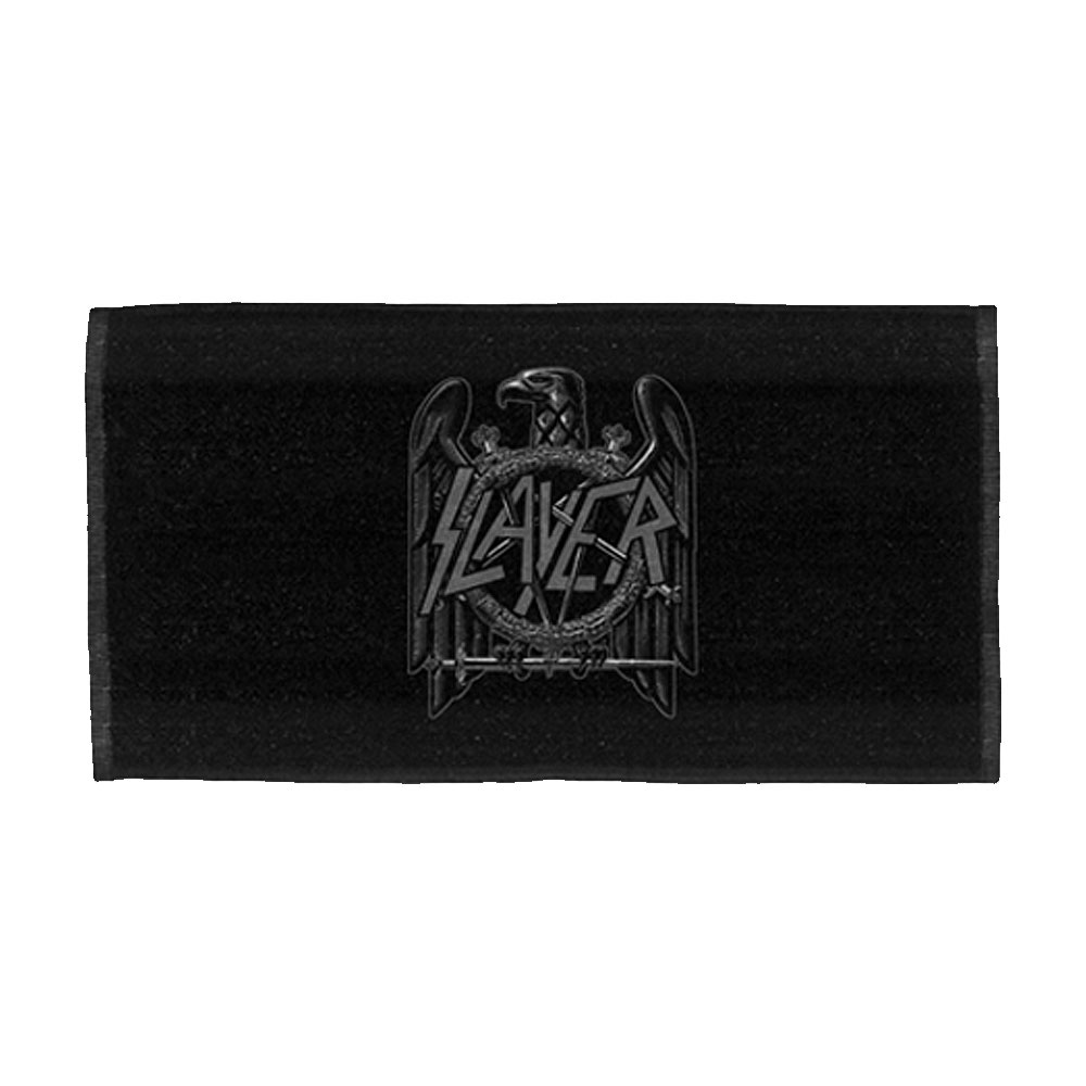 Slayer - Eagle Logo (Black Bar Towel)
