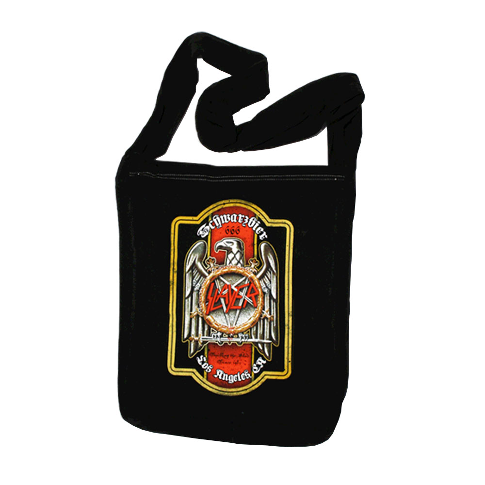 Slayer - Beer Label Swing Bag (Black)