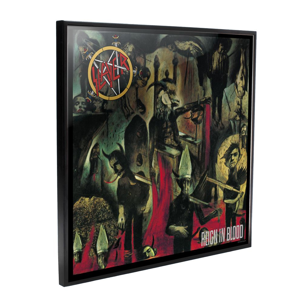 Slayer - Reign In Blood Album Cover (Crystal Clear Wall Art)