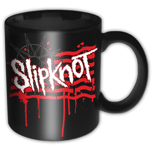 Slipknot - Dripping Flag/Logo (Black)