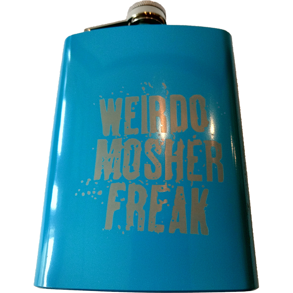 Sophie Lancaster - Weirdo Mosher Freak Blue Hip Flask