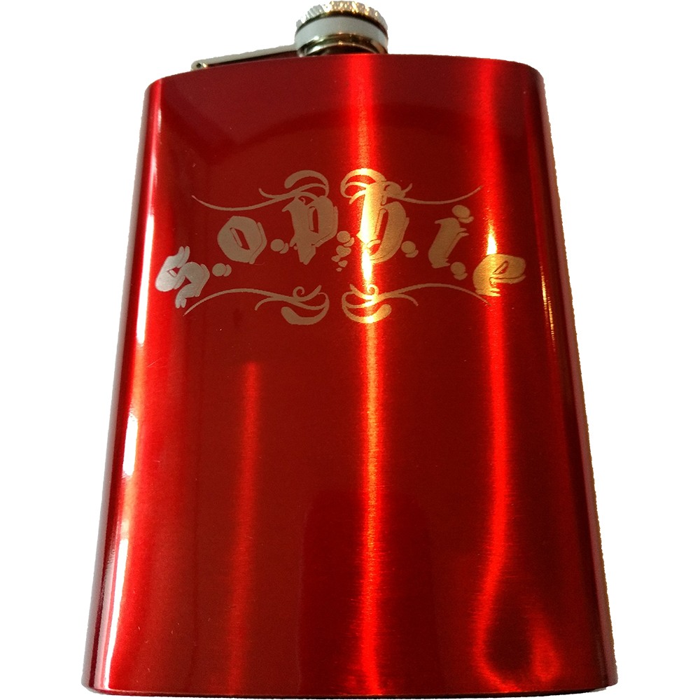 Sophie Lancaster - S.O.P.H.I.E Red Hip Flask