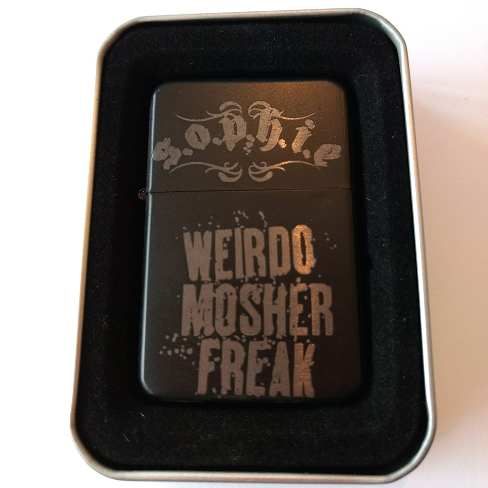 Sophie Lancaster - S.O.P.H.I.E./Weirdo Mosher Freak Black Lighter