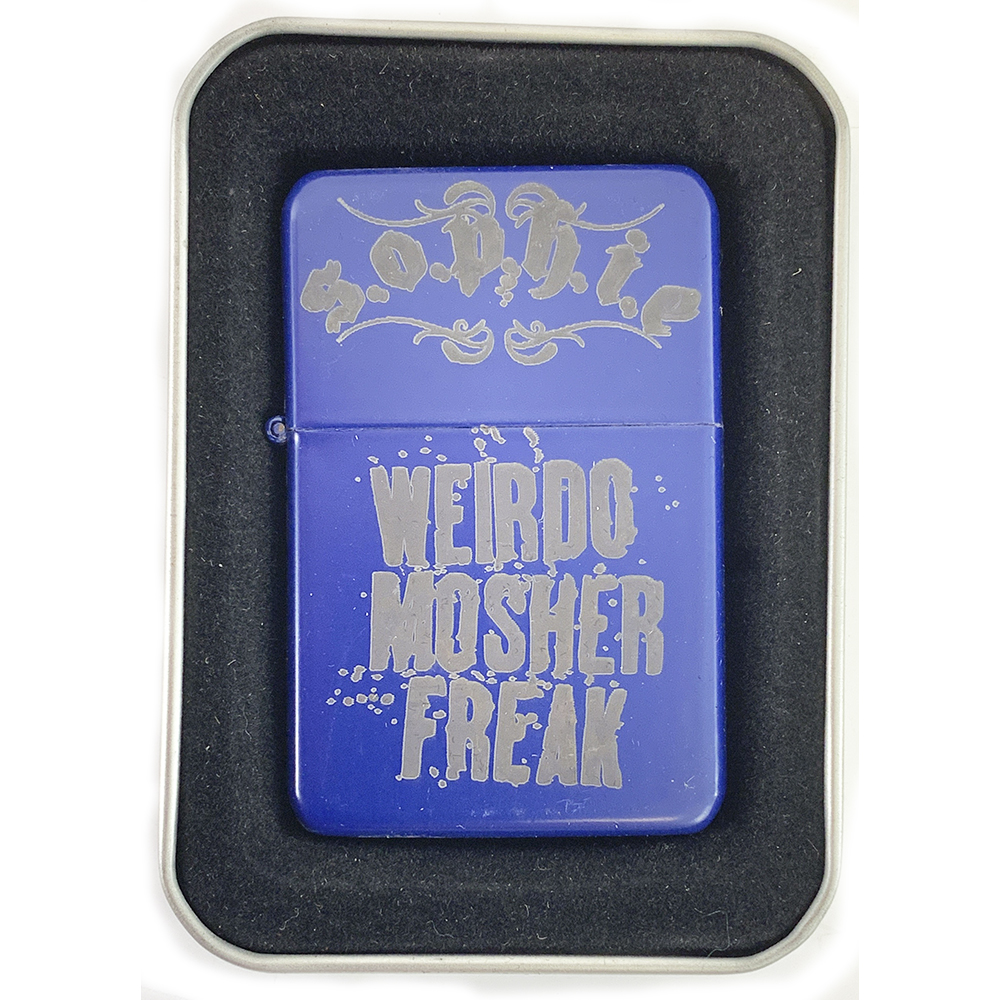 Sophie Lancaster - S.O.P.H.I.E/Weirdo Mosher Freak Blue Lighter