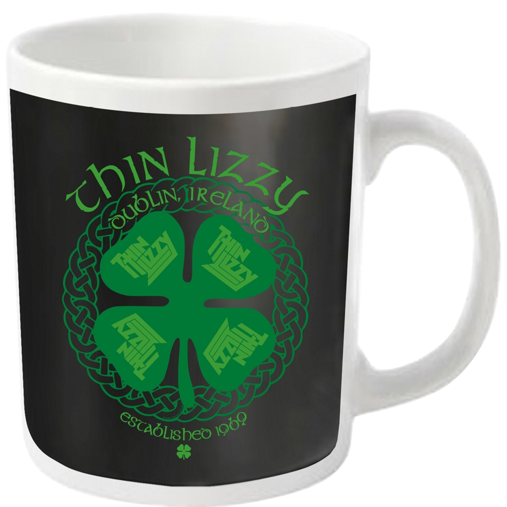 Thin Lizzy - Four Leaf Clover (White Mug)