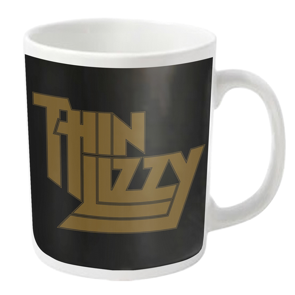 Thin Lizzy - Gold Logo (White Mug)