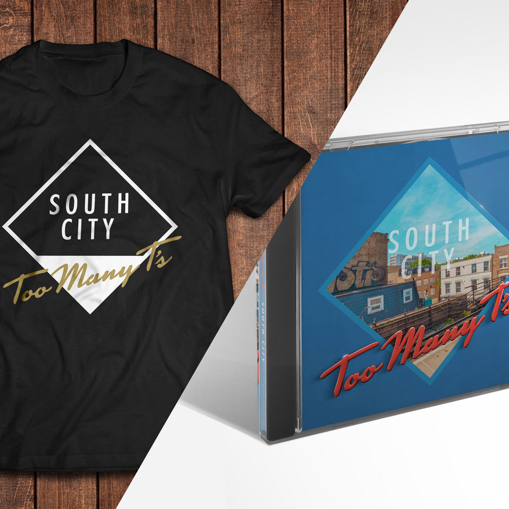 Too Many T's - South City Album CD & T-Shirt (Black)