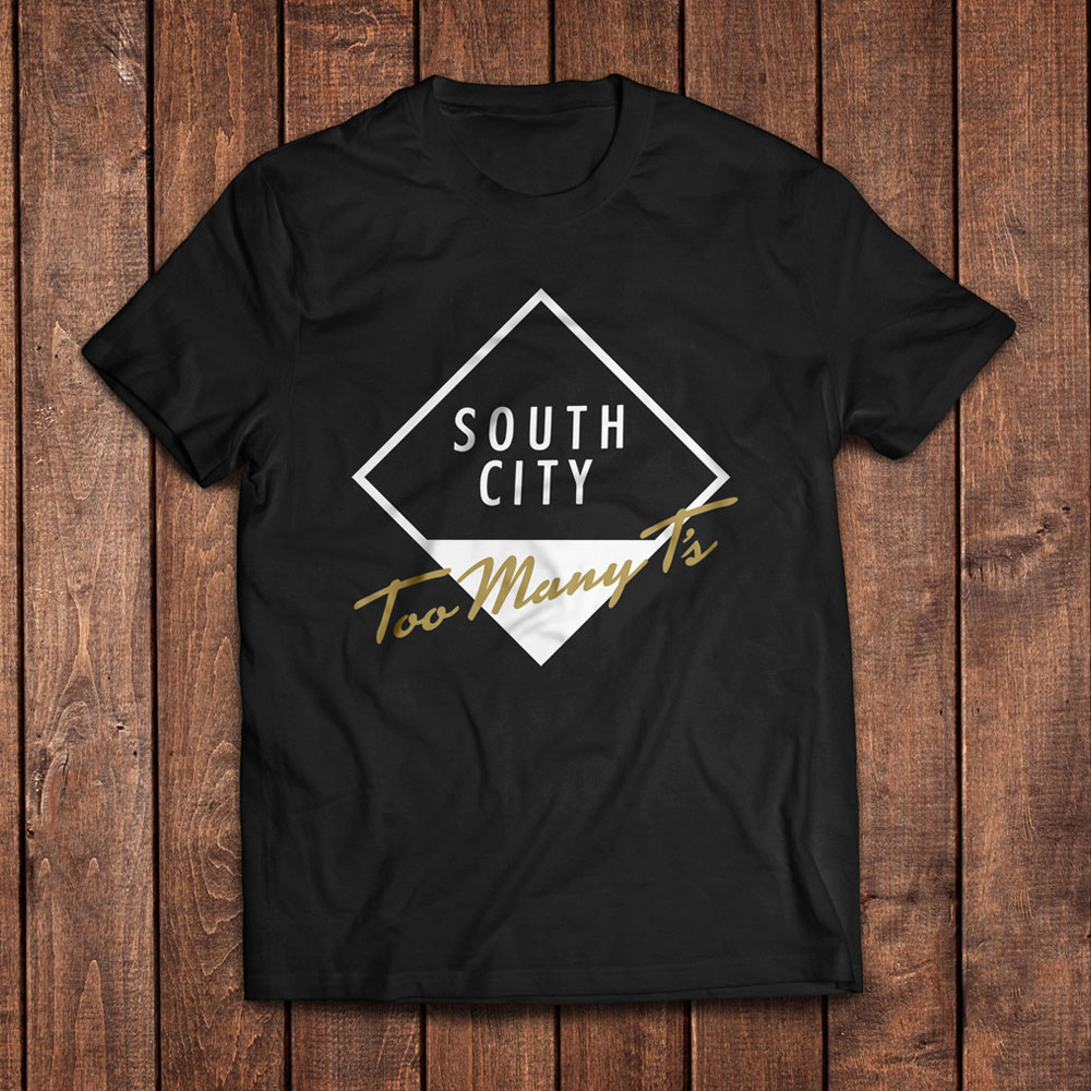 Too Many T's - South City Album LP & T-Shirt (Black)