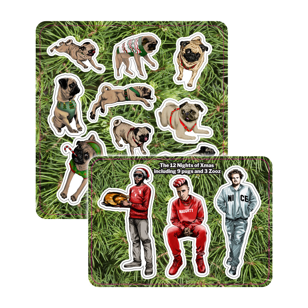 Too Many Zooz - Pug Sticker Pack