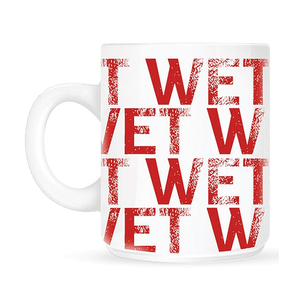 Wet Wet Wet - Red Text (White Mug)